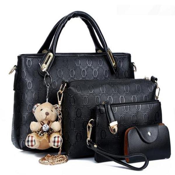Women Bag Top Handle Bags Handbag Set PU Leather Composite Bag Famous Brand Borse