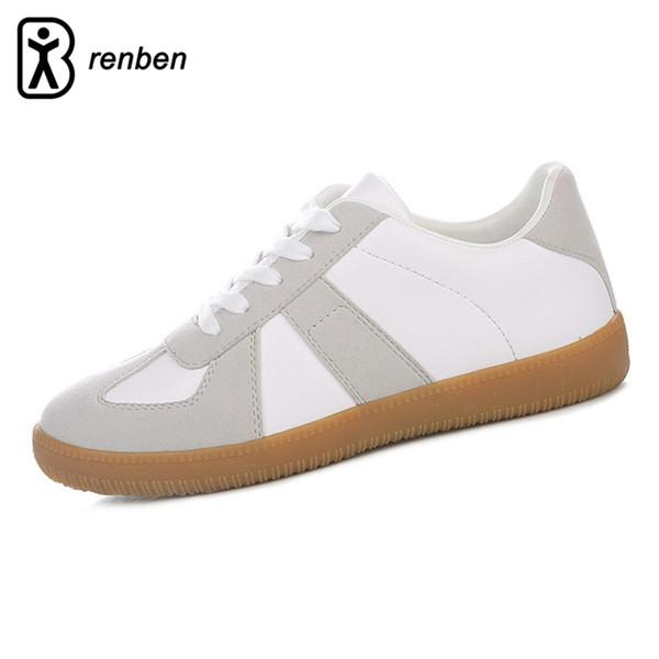 RenBen 2017 Deri Rahat Ayakkabılar Kadınlar Flats Yürüyüş Creeper Loafer'lar Kadın Ayakkabı Dayanıklı Oxford Dantel-up Bayanlar Ayakkab ...