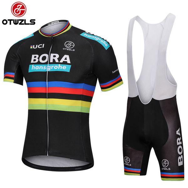 2018 Cycling Jersey Set Men Summer Reflective MTB Cycling Clothing Pro Team Mountain  Bike Jersey Short 1e805a990
