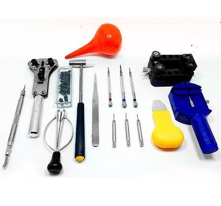 top popular 16PCs Set Professional Watch Repair Tool Universal Watch Tool Kit Portable Watchmaker Pin Remover Hammer Pliers Opener Adjuster 2021
