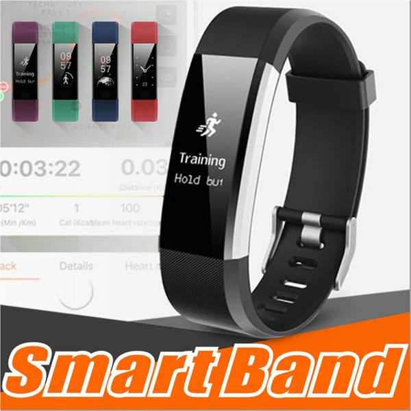 ID115 Plus HR GPS Bluetooth Smart orologio da polso Fitness Tracker smartwatch Pedometro Cardiofrequenzimetro smartbracelet Wristband