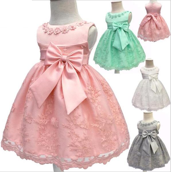 Compre Vestidos De Bautizo De Niñas Bebés Para El Primer Cumpleaños ...