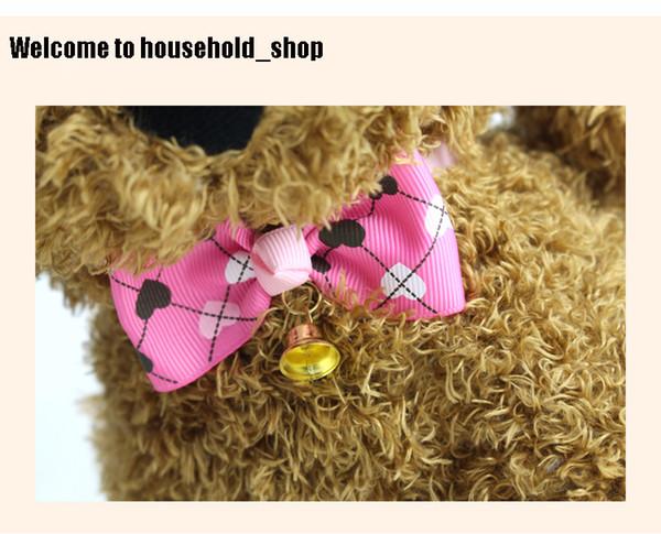 Ornamenti di cravatta a farfalla Pet Dog all'ingrosso con piccola campana regolabile Cat Cravatta Pet Cravatta 4 colori