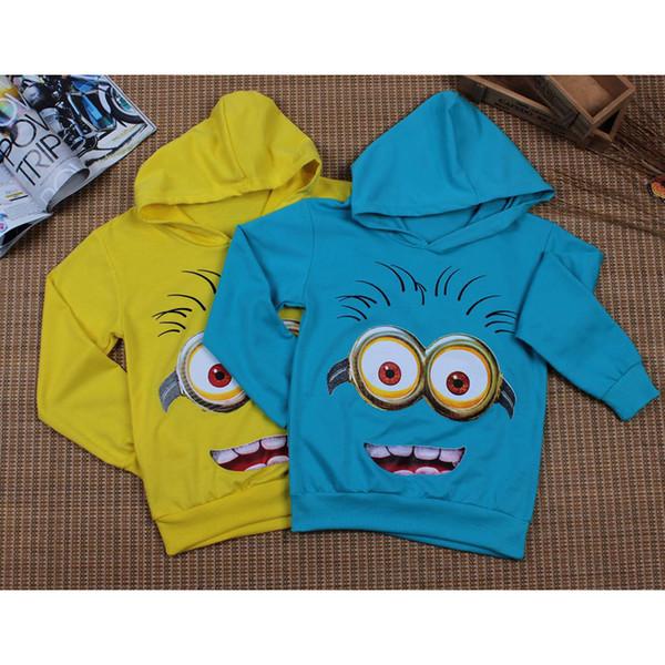 2018 Cartoon Minion Children Hooded hoodies kids T-shirt boys girls outerwear baby spring autumn Long sleeve sweatshirts Cotton
