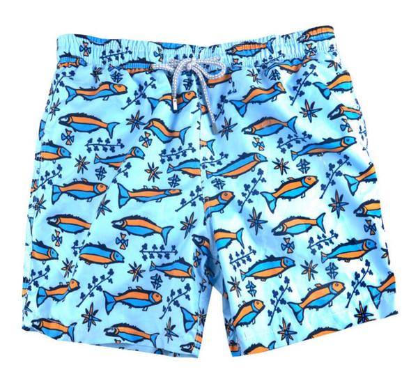 Bleu poisson hommes Bermuda Surf Beach Shorts vert rapide sec plage courte pantalon pour hommes sexy lâche fit maillot de bain drop shipping vert