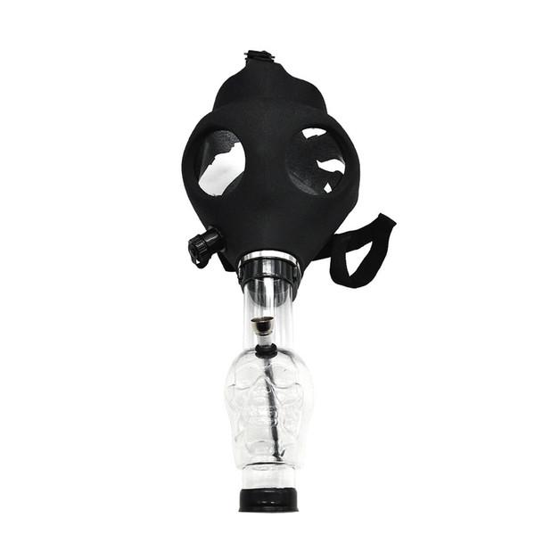 Silicone Mask Pipe Bong Creative Mask Acrylic Smoking Pipe Gas Mask acrylic bongs Pipes free shipping