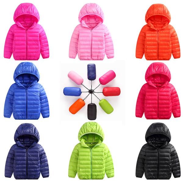 Giacca per bambini Capispalla Ragazzo e ragazza Autunno Warm Down Cappotto con cappuccio Teenage Parka Kids Winter Jacket Taglia 1 2 10 12 15 Years Old