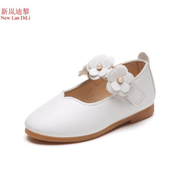 2018 flower fashion girls shoes new brand flat with leather baby shoes elegant high quality children kids shoes toddlers