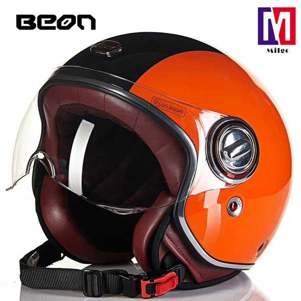 B-109 summer women and men motorcycle half helmets adventure touring motorcycle scooter open face helmet in color orange blue black white