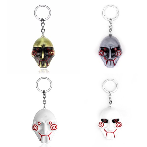 dongsheng 3 Colors Horror Movie Saw Keychain Mask Metal Alloy Key Chain Keyring Souvenirs For Men Gift Car Key -50