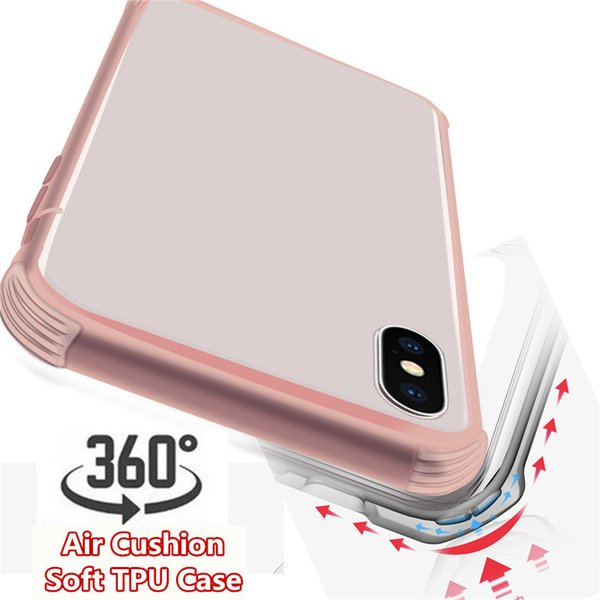 Christmas Gift 360 Full Body TPU phone Case Front Back Transparent Shockproof Air Cushion Soft Cover for iphone X XS MAX XR 8 6 7 plus
