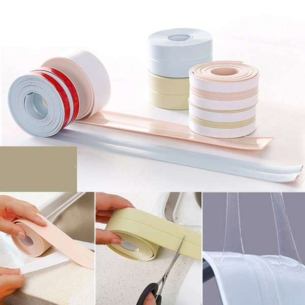 PVC Material Home Kitchen Bathroom Wall Sealing Tape Stickers Waterproof Mold Proof Wall Stickers for Water Tank Corner