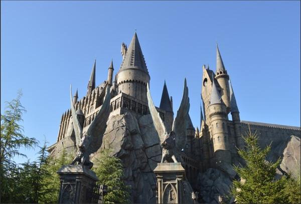 7x5FT Cielo azul Piedra Luz del día Hogwarts Escuela Castillo Estudio fotográfico personalizado Fondo Telón de fondo Vinilo 220 cm x 150 cm