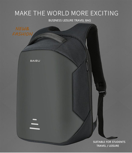 2018 New USB Charge Men Anti Theft Travel Backpack 16 Inch Laptop Backpacks For Male Waterproof Backpacks Bags Wholesale
