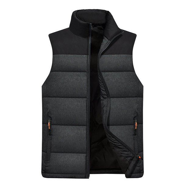 Mens Sport Jacket Winter Sleeveless Coat 2019 New Keep Warm Gym Gilet Full Zipper Windproof Run Vest Bowling Golf Jackets
