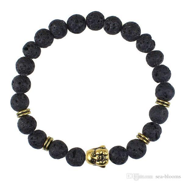Vintage Lava Beads Bracelet Buddha Bracelet Natural Stone Lion Head Bracelets 15 Styles For Women Men Jewelry Yoga Bracelets gift H247Q