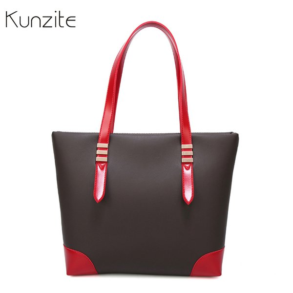 Hotsale Large Handbags Fashion Patchwork Leather Bags for Women Famous Brand Shoulder Bag Party Ladies Hand Bags Designer Totes