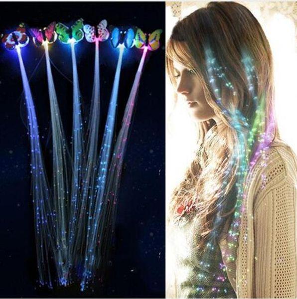 LED clignotant cheveux tresse incandescent luminescent épingle à cheveux novetly cheveux ornement filles conduit jouets nouvel an fête cadeau de noël