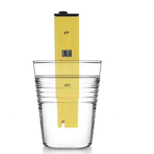10 pcs / lot Excellent poche stylo analyseur type affichage numérique ph mètre piscine testeur de qualité de l'eau test d'acidité