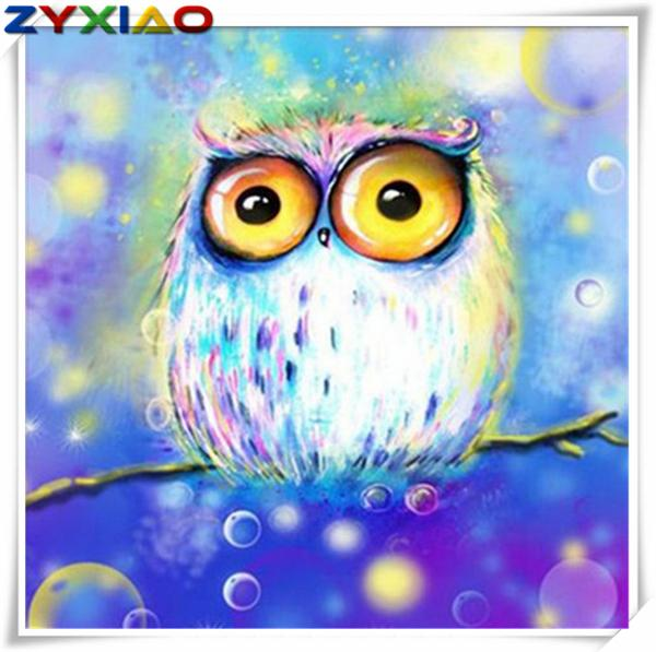 5D Diy diamond painting cross stitch kit full round&square diamond embroidery animal cute owl home mosaic decor gift wisdom toy AA712
