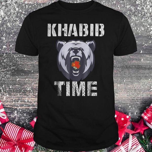 Khabib-Zeit-Bärn-Hemd Khabib Nurmagomedov T-Shirt Männer-Schwarz-Baumwoll-T-Stück M-3XL 2018 Modet-shirt kundenspezifische Umwelt