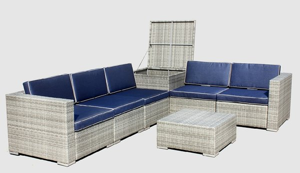 outdoor Furniture 7-Piece Outdoor Patio Furniture Sectional Sofa ...