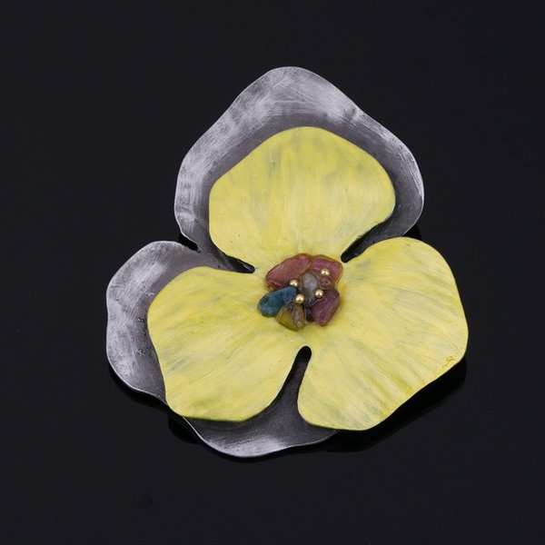 Fashionable Exquisite Vintage Flower Brooch Dress Accessories Gift for Women and Men YP3297