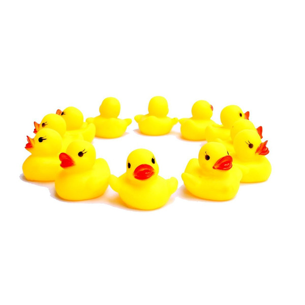top popular Yellow Rubber Ducks Can Float On The Water And Squeak Mini Duck Baby Play In BathTub Kid Toys For Shower Fun(10Pcs lot) 2019