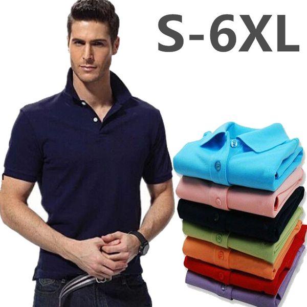 New Man Polo Shirt Mens Casual Small Horse Embroidery Cotton Polo shirt Men Short Sleeve High Quantity polo men White Black Plus Size S-5XL