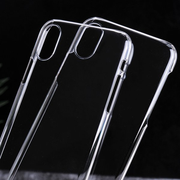 For iphone X 8 Clear Crystal Transparent Case Ultra Slim Plastic Hard PC Back Cover For iPhone 7 6 6S 5S 5 SE