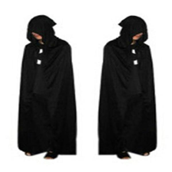 Manta de manguito con capucha gótica Wicca Robe Witch Larp Cape Mujeres Hombre Disfraces de Halloween Witche Vampires Fancy Party