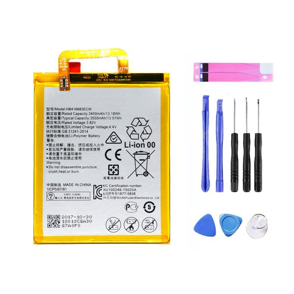 best selling OEM Replacement 3550mAh HB416683ECW Battery For Huawei Google Nexus 6P H1511 H1512 + Free Tools fast shipping DDP service