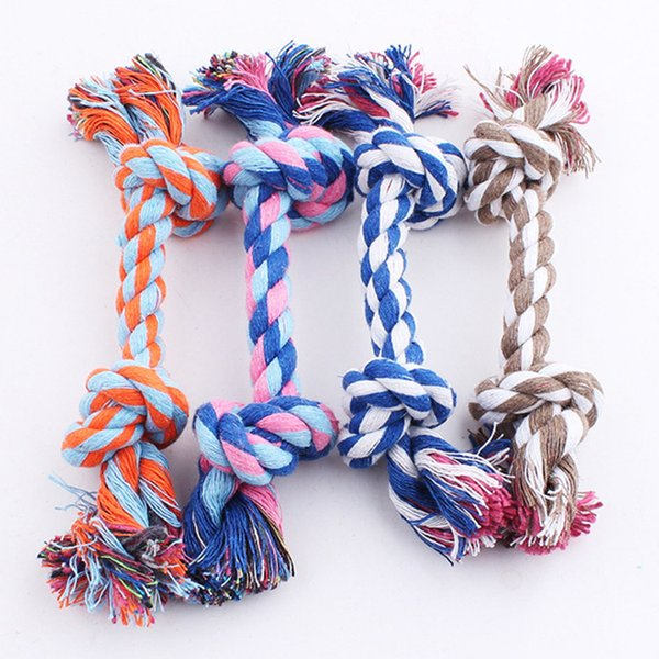 Pets Dogs Toys Pet Supplies Pet Dog Puppy Cotton Chew Knot Toy Durable Braided Bone Rope 17CM