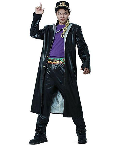 top popular JoJos Bizarre Adventure Jotaro Kujo Leather Cosplay Costume 2020
