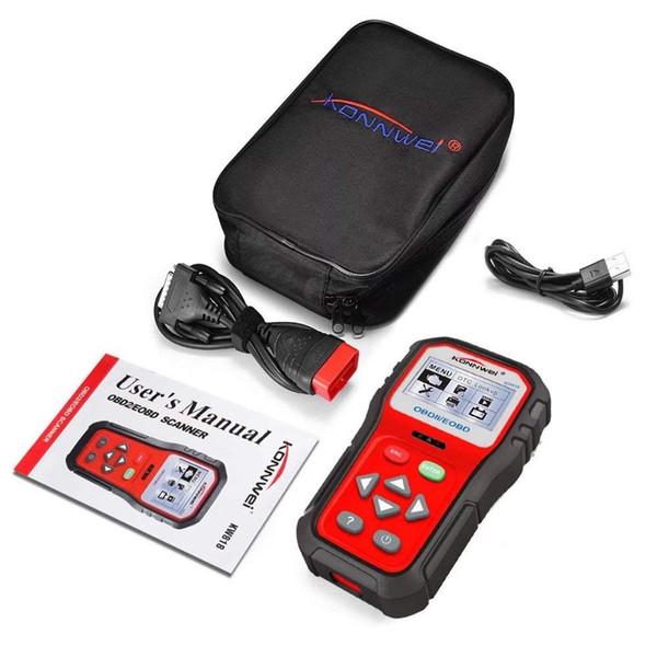 Easycat OBD2 Scanner Code Reader KW818 Universal OBDII Vehicle Engine Diagnostic Codes Reader Full OBD/EOBD Function Scan Tool Check (KW818)