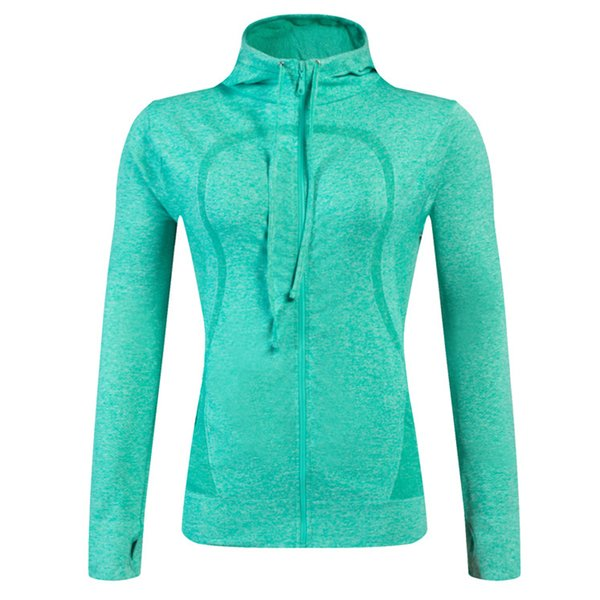 best selling New Brand Women Fitness Zipper Hoodies Comfortable Fast-Dry Female Sexy Sports Jacket Outdoor Running Tights Slim Yoga Shirts