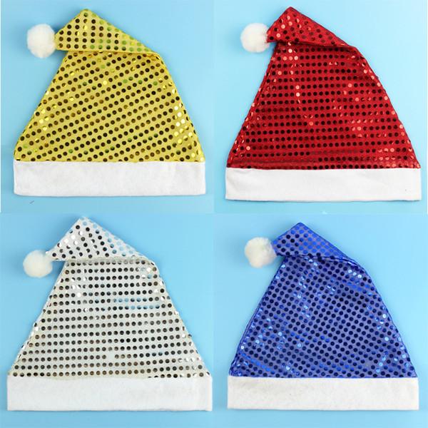 Pailletten Weihnachten Hut Kinder Weihnachtsmann Kappe Mode Originalität Festival Party Dekoration Fit Kinder Geschenk Heißer Verkauf 1 8zm ff