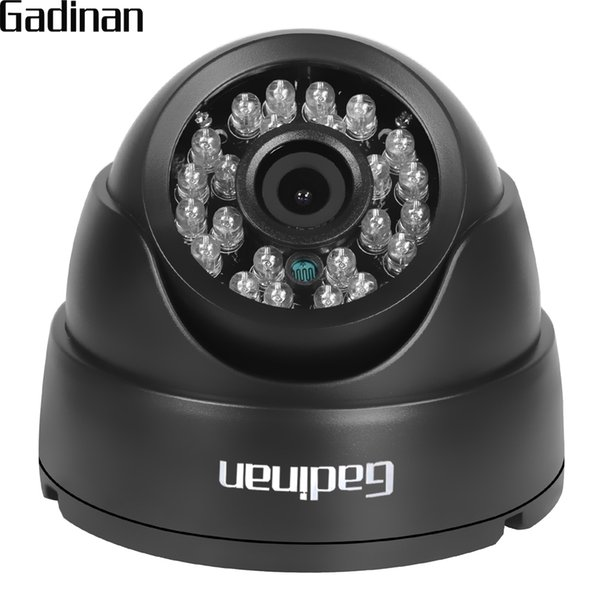 GADINAN 2.8mm Lens Wide Angle 1/3'' CMOS 1000TVL IR-CUT Night Vision Dome CCTV Camera Home Security Surveillance ABS Housing