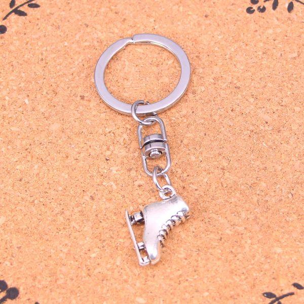 New Design ski boots Keychain Car Key Chain Key Ring silver pendant For Man Women Gift