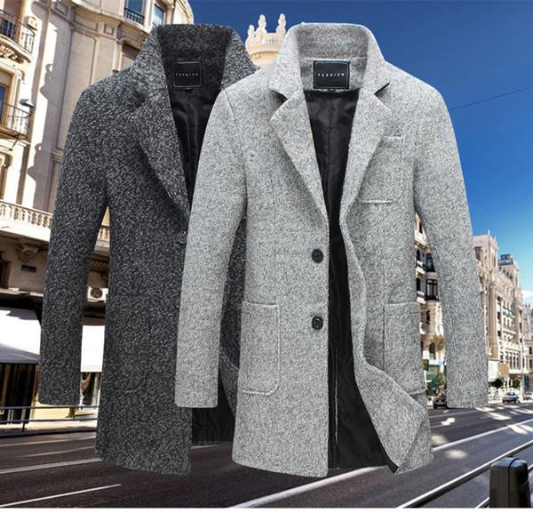 Großhandel 5xl Erbse Swallow2014520 Lange Trenchcoat Herren Baumwolle Männlich Mantel Dicke Jacke Männer M 2018 Von Neue Mode Winter Wolle 13TlFKJ5uc