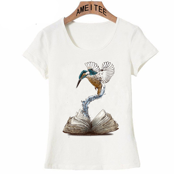 Creative Do not take life too seriously. You will never get out of it alive T-Shirt women t-shirt Alive art Tops bird book Tees