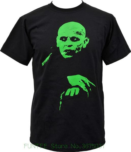 Homens de alta Qualidade T Camisas Nosferatu Mans Preto Uv Verde Impresso Camiseta Vampiro Horror Goth Punk S-5xl