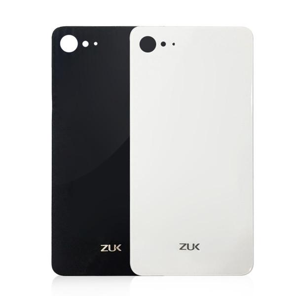 Original Glass Battery Back Cover For Lenovo ZUK Z2 5.0 inch housing Back Door Cover Cases+Adhesive Strips black white in stock