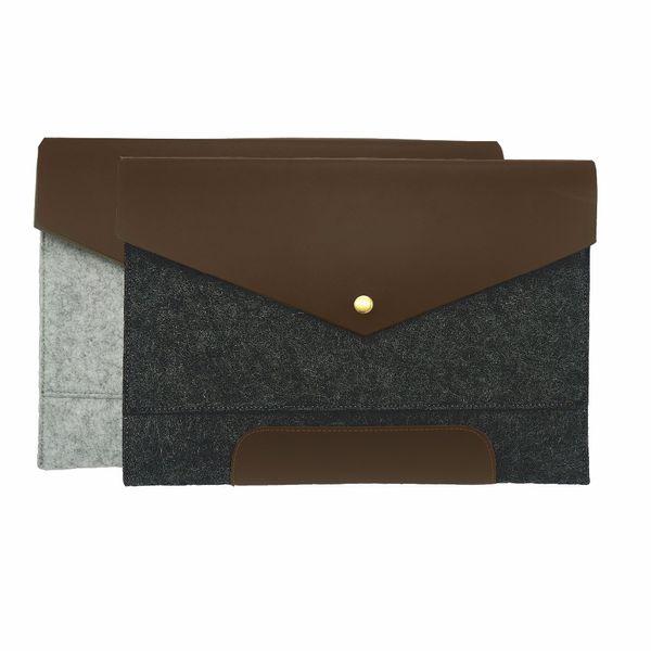 Real True Leather A4 Document Bag Retro Vintage Ancient portfilio Envelope file folder holder brief case with excellent texture