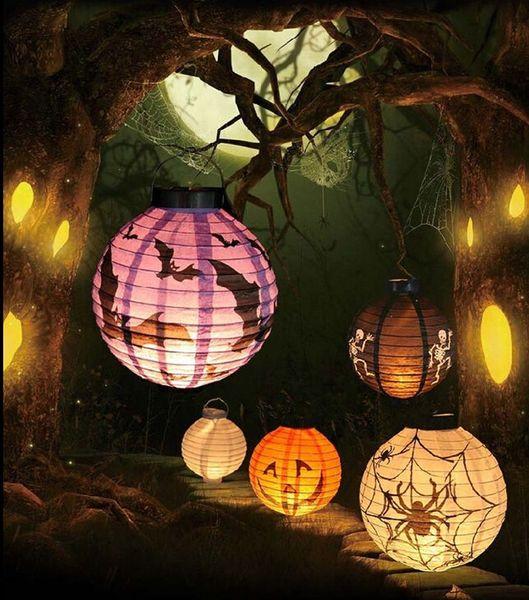 LED Paper Lantern Pumpkin Bat Hanging Light Lamp Halloween Party Toys Funny Practical Jokes