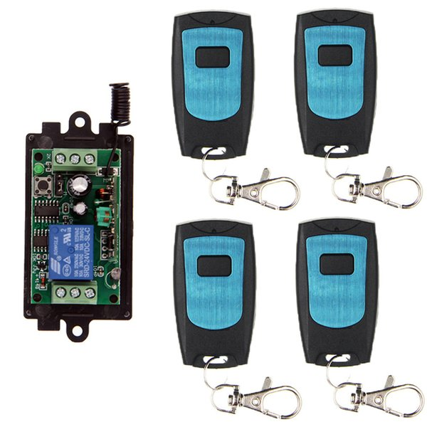 DC 9V 12V 24V 10A 1 CH 1CH RF Wireless Remote Control Door Light Switch System, WaterProof Transmitters + Receiver 315/433 MHz