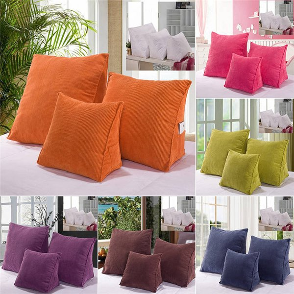 Comfortable Solid Color Backrest Cushion For Bed Car Sofa Cushions Thick  Corduroy Support Waist Pillow Replacement Outdoor Sofa Cushions Cushions  For ...