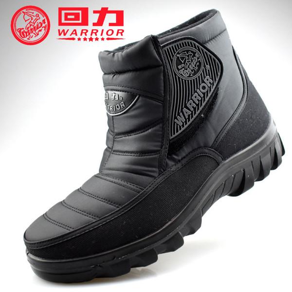 Warrior Outdoor winter warm shoes for women tobillo femenino botas para la nieve acolchadas con algodón tela oxford impermeable grande, grande, talla grande