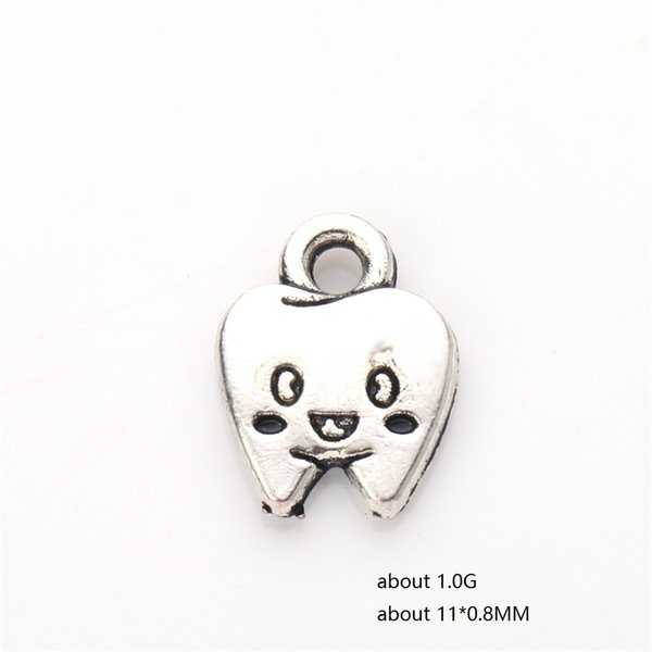Newest Zinc Alloy Metal Charms Cartoon Character Tooth Charms Fashion Jewelry Accessories Fit for Necklace