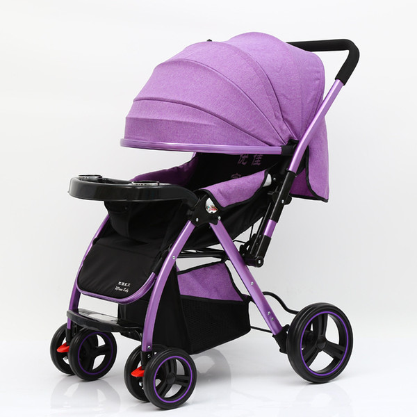 cochecito para bebés Four Wheel Pushcart High End Atmosphere, Increase Wheels, carrito de bebé